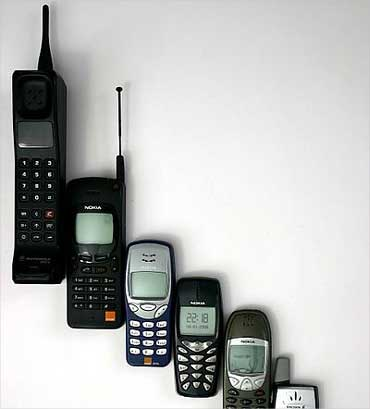 An evolution of mobile phones.
