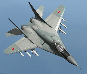The MiG-29 fighter.