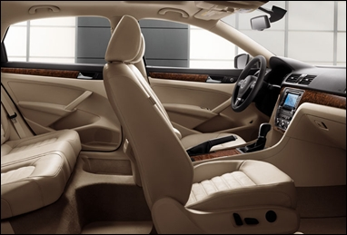 Interior view of the Passat.