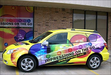Cars are now a medium of outdoor advertising.