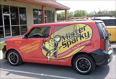Advertising on cars is cost-effective.