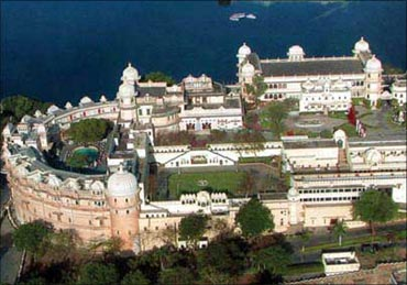 Shiv Niwas Palace in Udaipur.