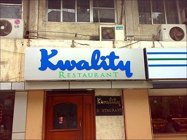 Kwality restaurant.