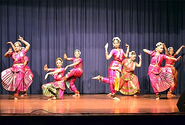 A Bharatanatyam performance.