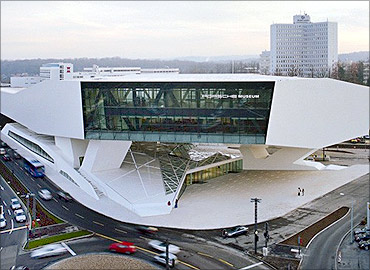 Porsche museum at Stuttgart.