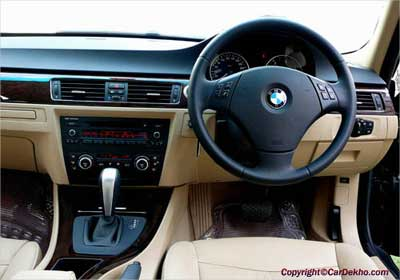 Interior view of BMW 3 Series.