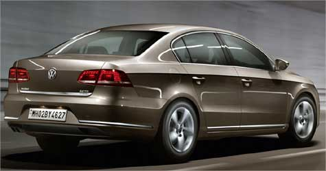 Rear view of Passat.