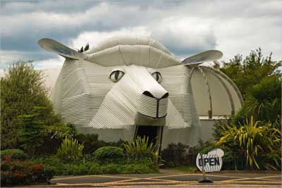 The sheep building, Tirau, Waikato, New Zealand.