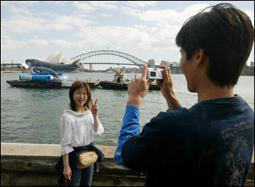 A Japanese tourist in Sydney.