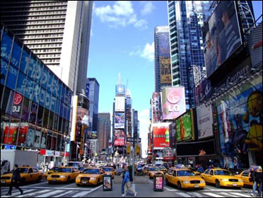 New York, most expensive overseas destination.
