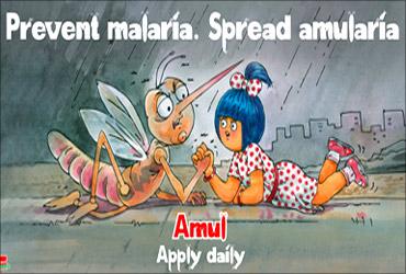 Advt on Malaria.