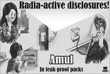 Niira Radia on Amul ads.