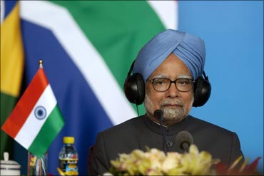 Prime Minister Manmohan Singh in Sanya.