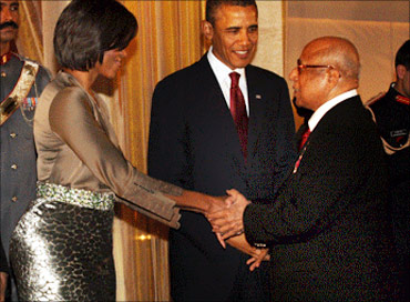 Capt Nair with US President Barack Obama and US First Lady, Michelle Obama
