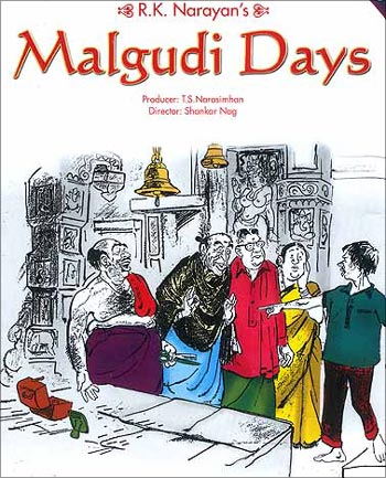 Cover of Malgudi Days written by R K Narayan.