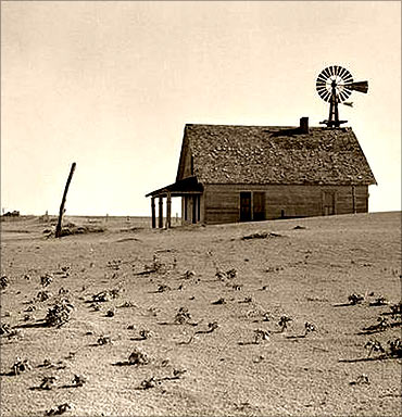 Breadbasket can turn into Dust Bowl in the US.