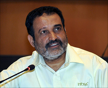 Infosys HR director Mohandas Pai who has announced his decision to quit the IT major.