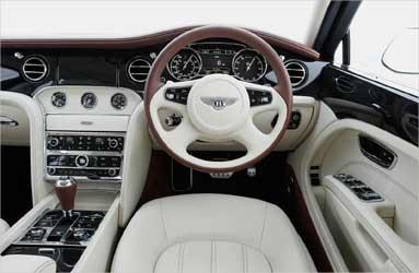 Bentley Mulsanne interior.