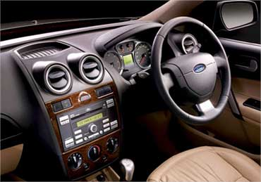 Interior view of the all new Ford Fiesta.