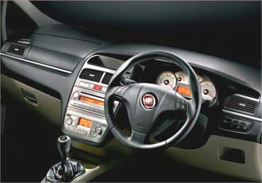 Interior view of Fiat Linea.