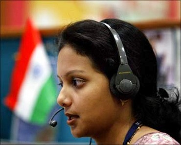 A call centre employee.
