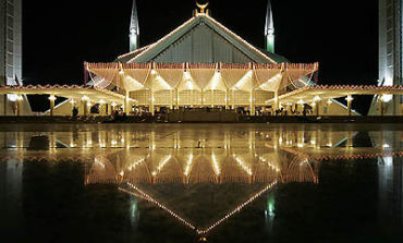 Broadband use is rising in Pakistan. A view of the King Faisal Mosque in Islamabad.