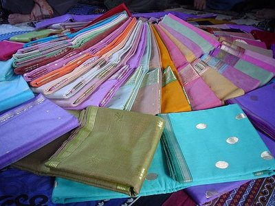 Chanderi saris.