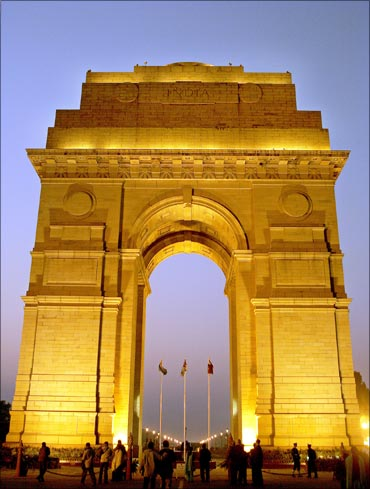 India Gate in Delhi.