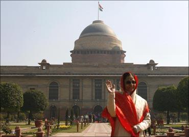 President Pratibha Patil at the Rashtrapati Bhavan.