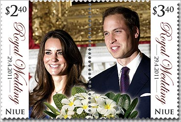 A Royal Wedding stamp from the tiny Pacific island of Niue.