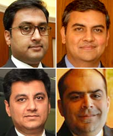 Topsy Mathew, Sameer Nath,  Nikhil Nath, Gaurav Gupta (clockwise).