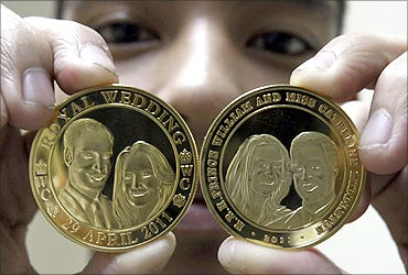Gold-plated souvenir coins.