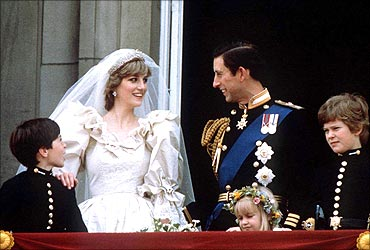 Prince Charles and Diana.