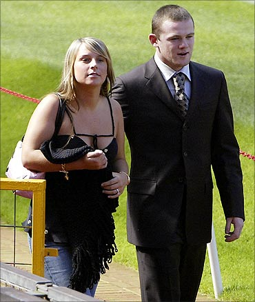 Wayne Rooney and Coleen McLoughlin.