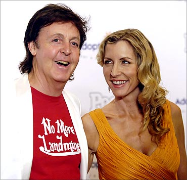 Paul McCartney and his wife Heather Mills McCartney.