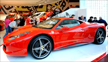 Ferrari museum.