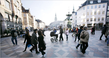 A public square in Copenhagen.