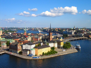 Stockholm basks in sunshine.