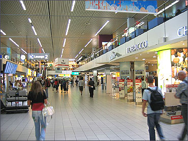 Shopping and Food at Schiphol Airport Amsterdam.