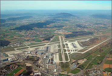 The runways at Zurich Airport.
