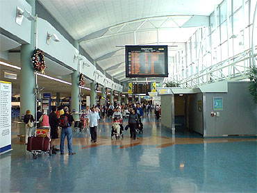 International Terminal check-in hall.