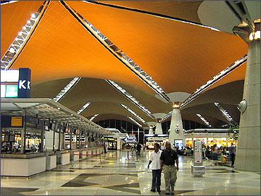 Check-in counters.