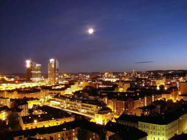 Oslo at night.
