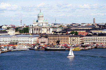 Helsinki basks under sunshine.
