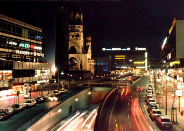 Night view of Berlin.