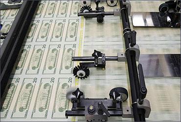 US dollar is being printed.
