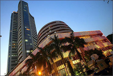 The Bombay Stock Exchange during Diwali.