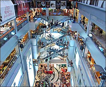 A mall in India.