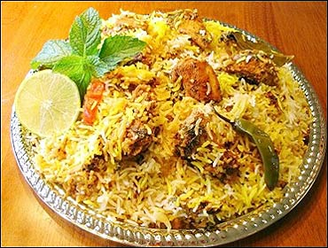 Hyderabadi biryani.