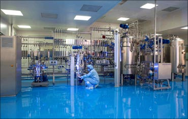 Inside a Biocon laboratory.